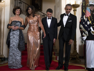 Obama Honors Italy's Leader During Final State Dinner