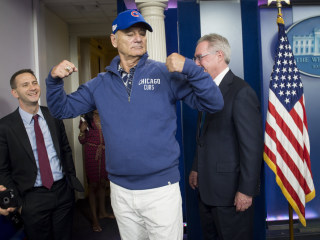Bill Murray Makes Surprise Appearance at White House Briefing Room