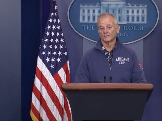 'President' Bill Murray Invades White House Press Room for Cubs