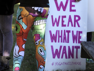 Namaste: Women Defend Wearing Yoga Pants in Peaceful Parade