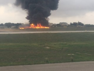 Crash at Malta Airport Kills Five, Covers Runway in Large Fireball