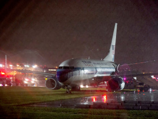 Mike Pence Describes 'Ten Seconds of Uncertainty' as His Plane Slid off Runway