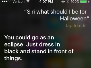 Don't Have a Halloween Costume? Apple's Siri Has You Covered