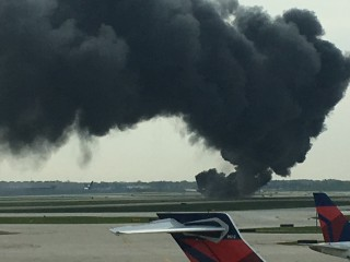 Plane Catches Fire at O'Hare Airport, No Injuries Reported