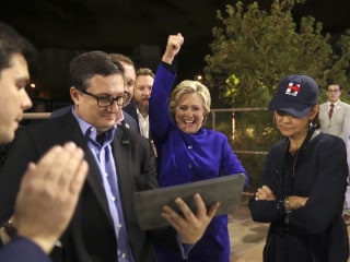Clinton Celebrates Hometown Chicago Cubs Win