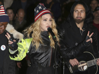 Madonna Plays Surprise Show for Clinton in NYC's Washington Square Park