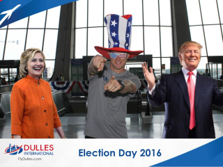 Trying to Escape the Election? Even the Airports are Election Crazy