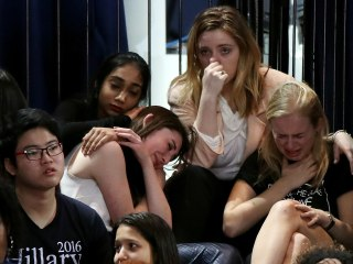 Stunned Clinton Supporters Take in Election Results