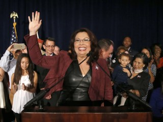 Tammy Duckworth gives birth, the first U.S. senator to do so while in office