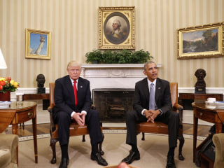 Obama Hosts Trump at White House for First Meeting After Election