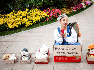 Queer Street Performer in South Korea Promotes Acceptance With Art