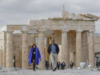 President Obama Tours Acropolis in Democracy's Birthplace