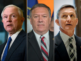 Senator Jeff Sessions of Alabama for attorney general, retired General Michael Flynn for national security adviser, and Representative Mike Pompeo for CIA director.