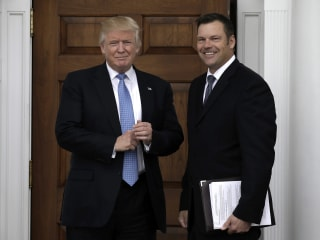 Photo Shows Potential Trump DHS Pick Kris Kobach Seems to Have Hardline Plan Ready