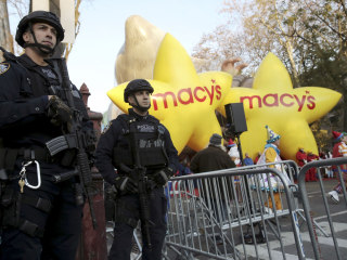 Sand Trucks and Vapor Dogs Guard Macy's Thanksgiving Day Parade