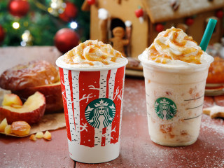We're dreaming about Starbucks' hot baked apple latte and Frappuccino