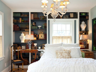 Library and guest room combos that win at double-duty design
