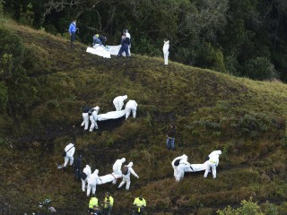 Rescuers Search Wreckage of Plane Crash in Colombia