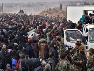 Aleppo Exodus: Terrified Syrians Flee Besieged City