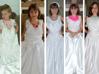 They grow up so fast! Mom snaps photo of daughter in her wedding dress each year