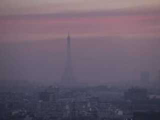 Eiffel Tower Disappears in Thick Paris Smog