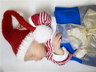What a Gift: NICU Babies Dressed as Presents for the Holidays