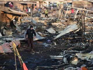 Mexicans Survey Devastation After Deadly Fireworks Explosion