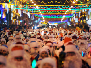 Christmas Eve Marked With Solemn Masses, Silly Santas