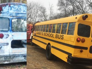See inside! Students (and Santa!) transform school bus for teacher's daughter
