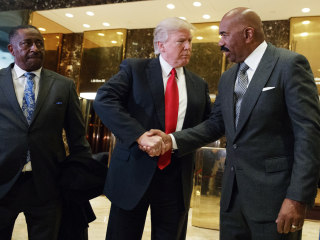 Comedian Steve Harvey Meets With Donald Trump