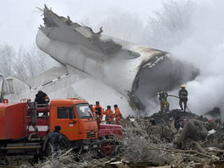 Cargo Jet Crash Kills Dozens in Kyrgyzstan Village