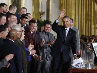 WATCH: President Obama Welcomes Cubs To White House