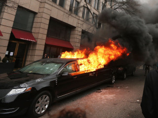 'They Don't Have the Right': Driver of Limo Torched During Inauguration Protests Recalls Ordeal