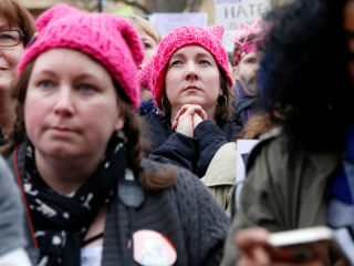 Women's March Brings Flood of Pink Hats, Fiery Rhetoric to Washington