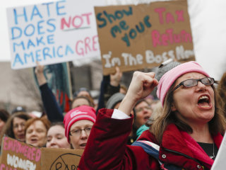 Peace, Positivity as Massive Women's March Makes Voices Heard in D.C.