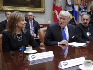 Trump, Detroit Automaker CEOs Trade Wish Lists