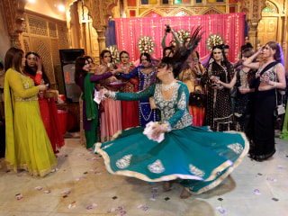 Saris Swirl at Rare Transgender 'Birthday' Party in Pakistan
