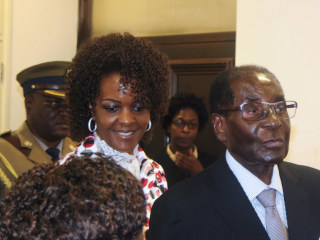 Robert Mugabe's Wife Says he Could Run in Election 'As a Corpse'