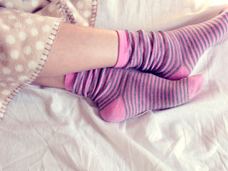 Health experts give two toes up to wearing socks in bed