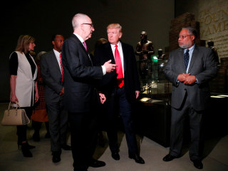 Trump at African-American History Museum Denounces Anti-Semitism and Racism: 'It Has to Stop'
