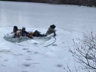 Seven People Fall Through Ice Over Pond in NYC's Central Park