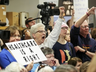 Lawmakers Pressed on Trump's Policies at Town Halls