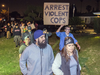 Protests in Anaheim After Off-Duty Cop Fires Gun During Clash With Teens