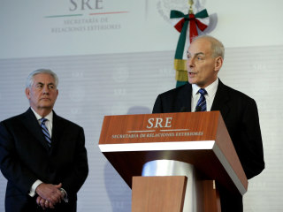 DHS Chief Kelly Pledges 'No Mass Deportations' During Talks With Mexico's Leaders