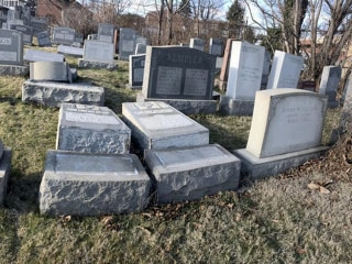 Vandals Damage Headstones at Jewish Cemetery in Philadelphia