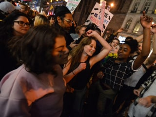 Protesters Hold Dance Party for LGBTQ Rights Outside Trump Tower