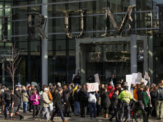 Trump Sons Face Protesters at Opening of Vancouver Hotel