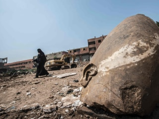 Archaeologists Find Massive 3,000-Year-Old Statue in Cairo Slum