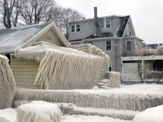Winter Won't Let Go of This Frozen House