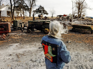 Ranchers Suffer Painful Losses in Deadly Wildfires